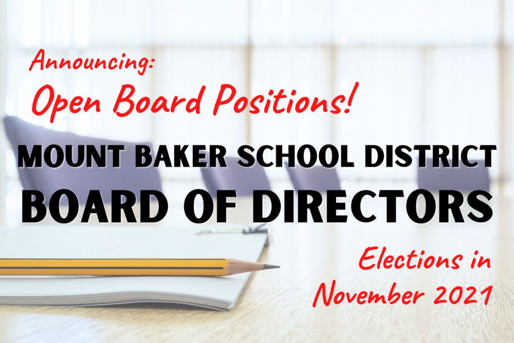 Two Board Director Positions are Up for Election in November 2021