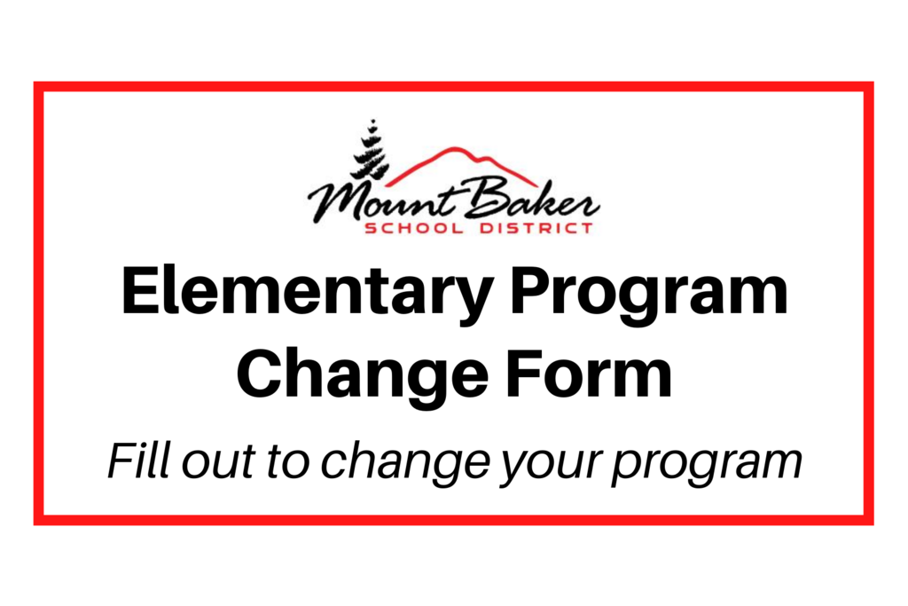 Elementary Program Change Form