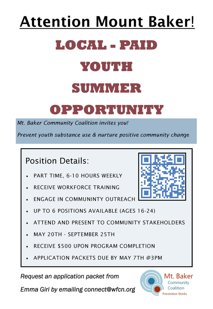 MBCC Summer 2021 Youth Position
